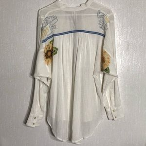 Free People Tops - Free People sunflower oversized tunic top XS